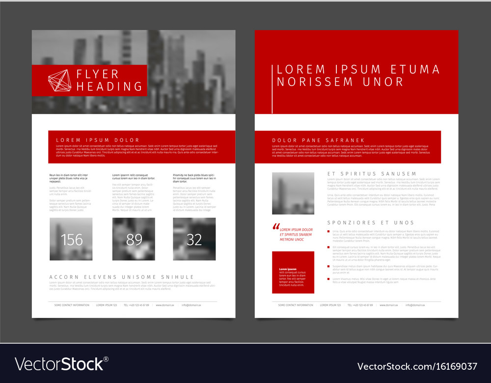 Modern Brochure Template Flyer Design Template Vector Image