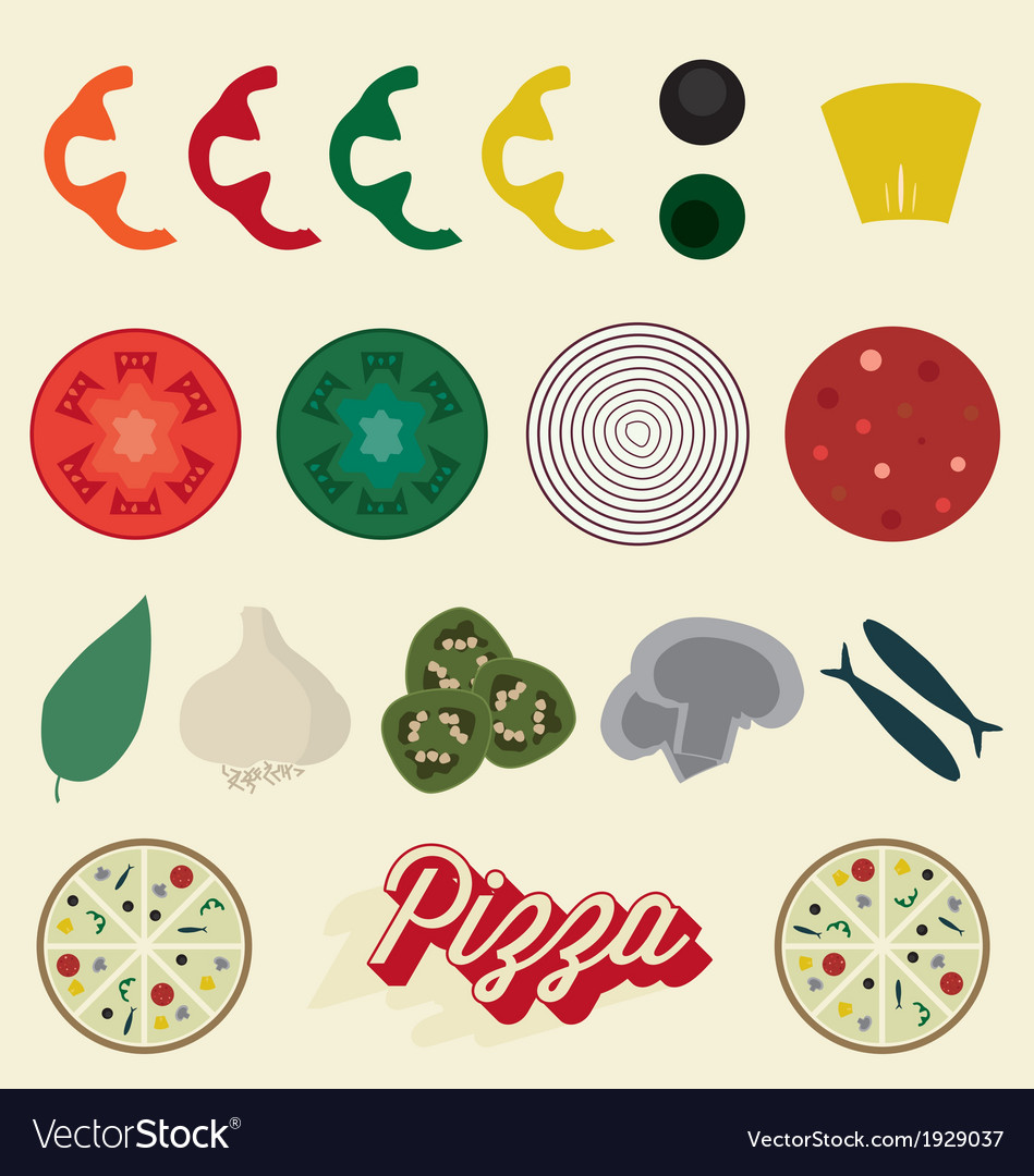 graphic relating to Printable Pizza Toppings called Pizza Toppings Range
