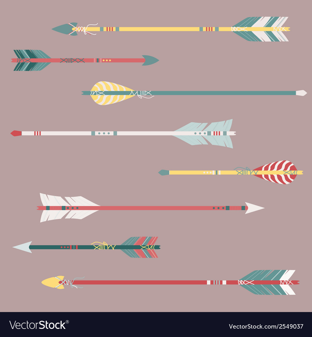 Set of colorful ethnic arrows