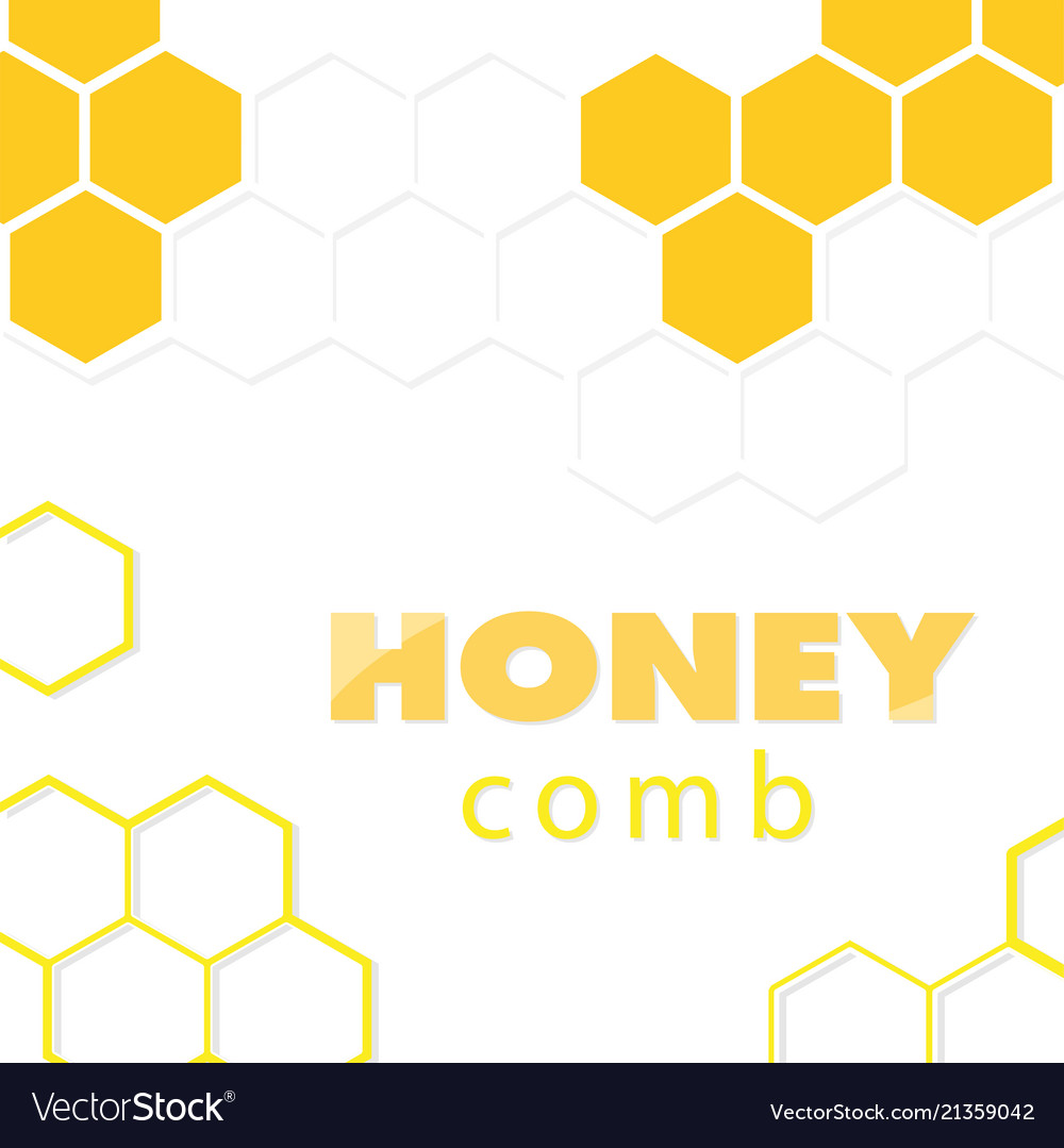 Abstract white yellow honeycomb background