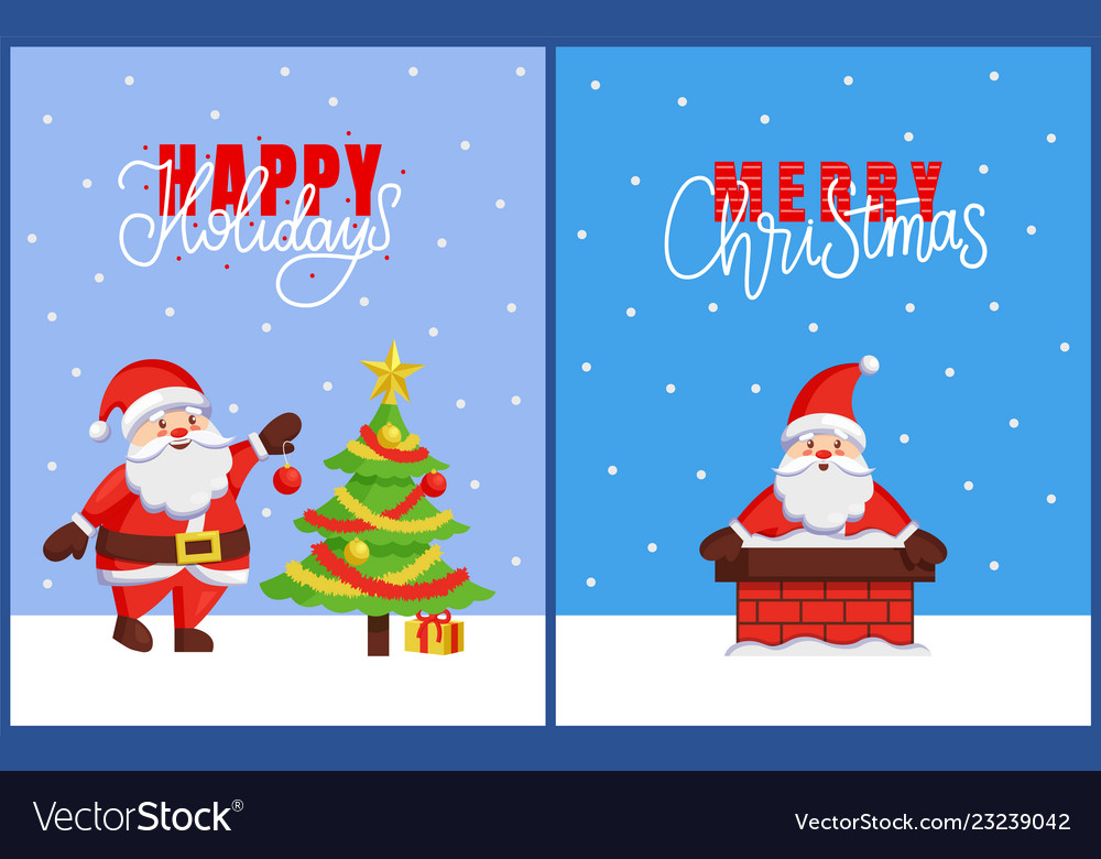Happy holidays and merry christmas 2019 posters