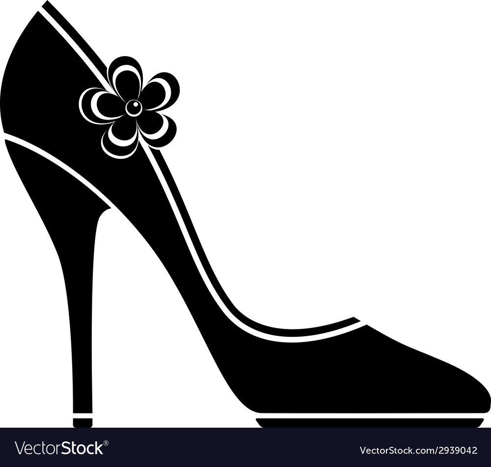 high heel shoes silhouette royalty free vector image