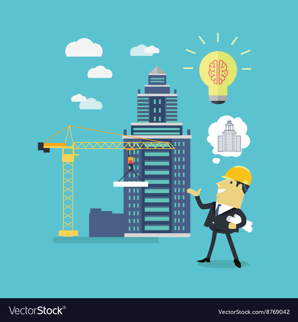 Implementation Ideas Architect Royalty Free Vector Image