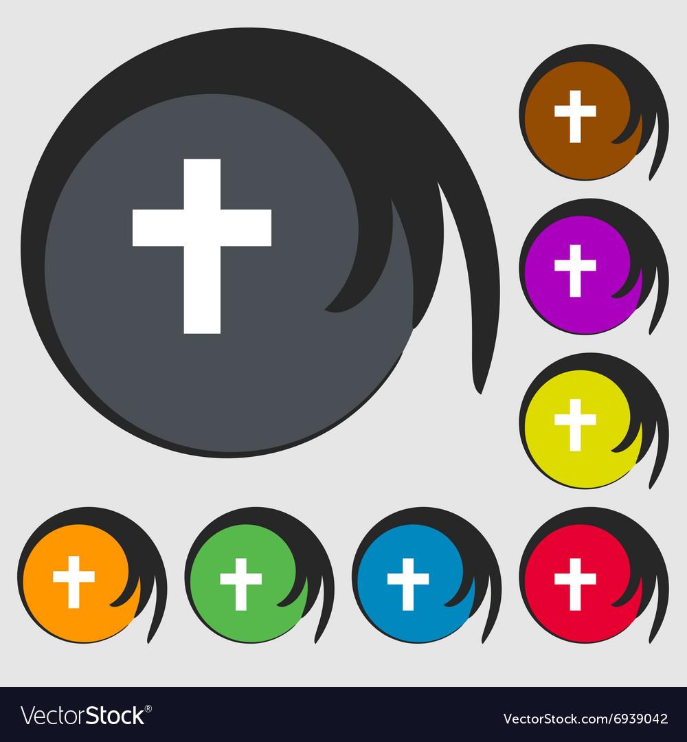 Religious cross Christian icon Symbols on eight