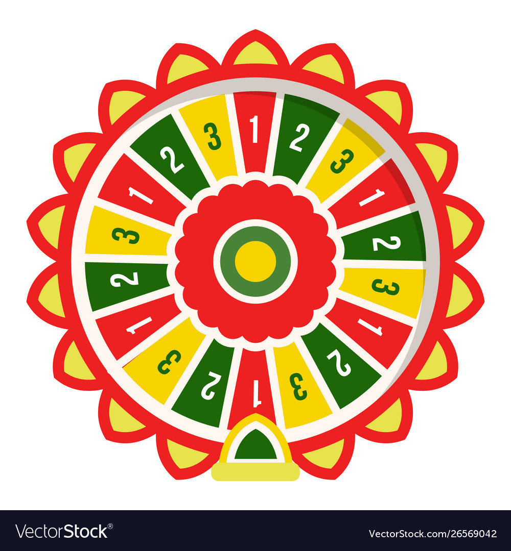 Roulette or fortune wheel isolated round device