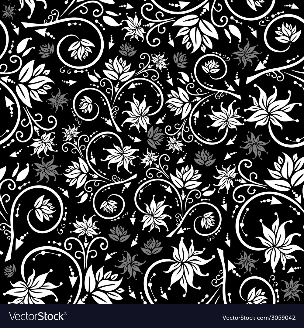 Seamless Floral Background Royalty Free Vector Image