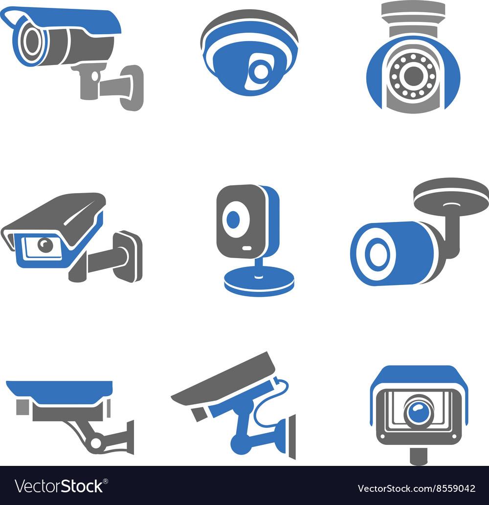 Video surveillance security cameras pictograms