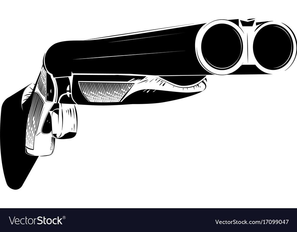 Black and white shotgun