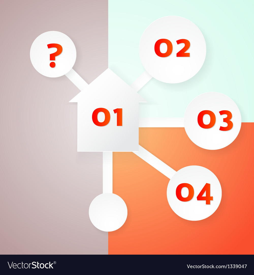 Infographics template with house and choice icons vector image