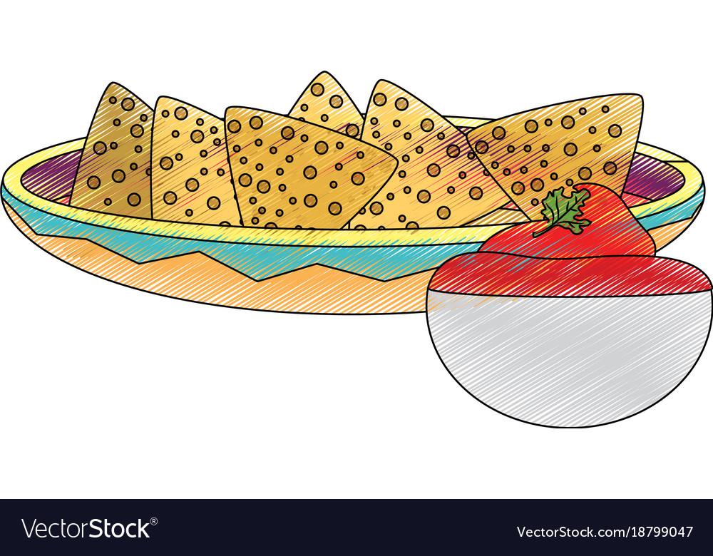 Isolated nachos design