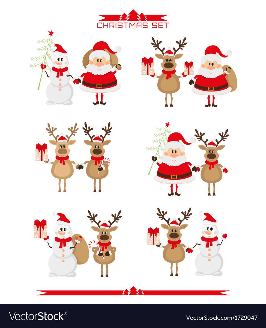 Christmas Set.Set Of Christmas Characters
