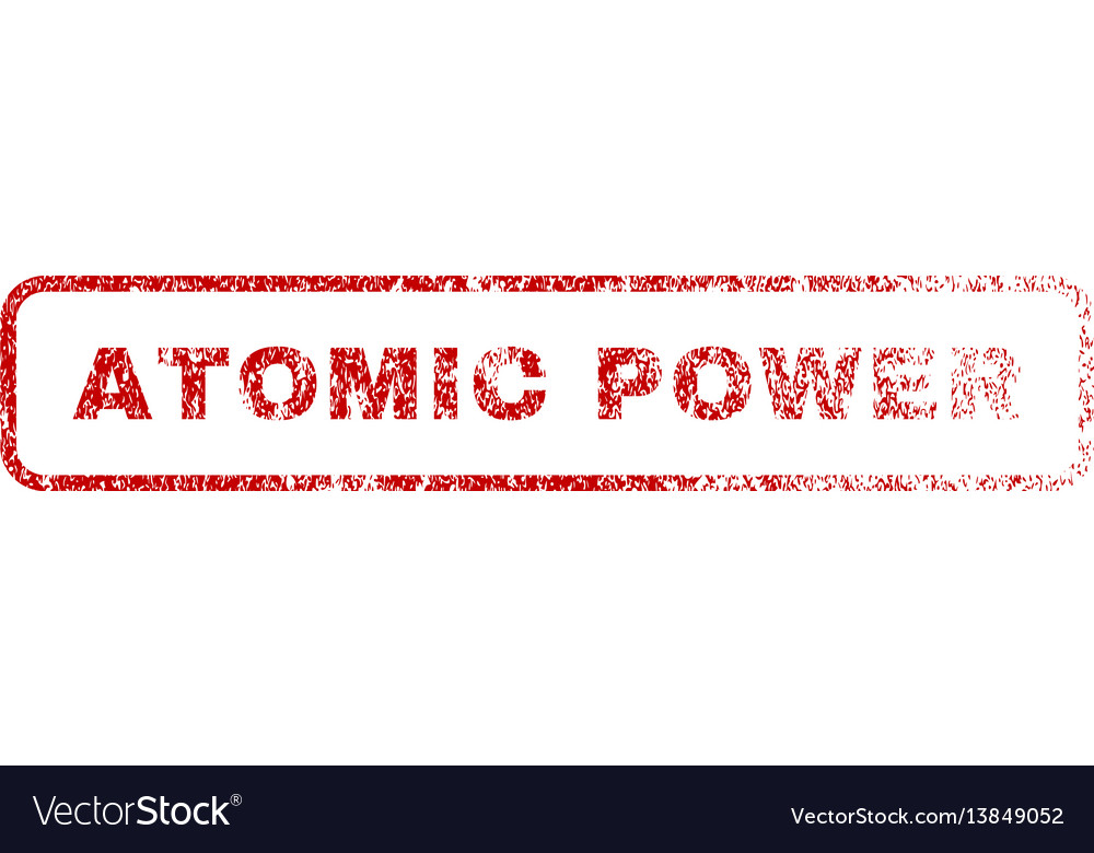 Atomic power rubber stamp