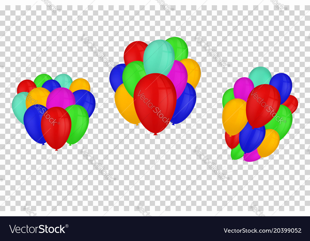 Balloons isolated on transparent background