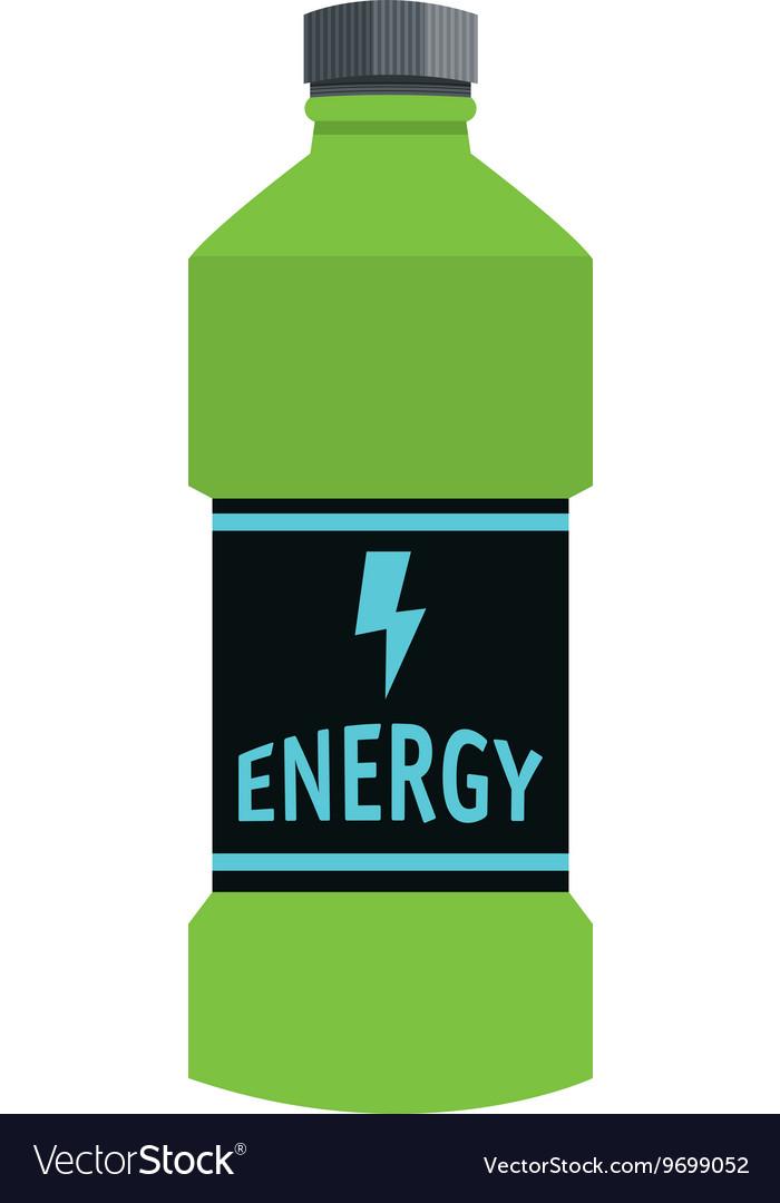Energy drink bottle icon