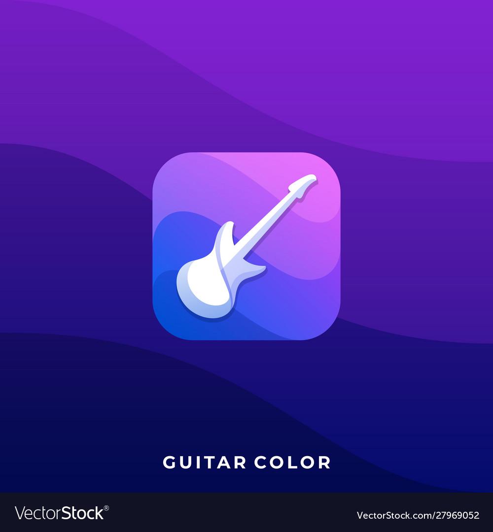 Guitar icon design template
