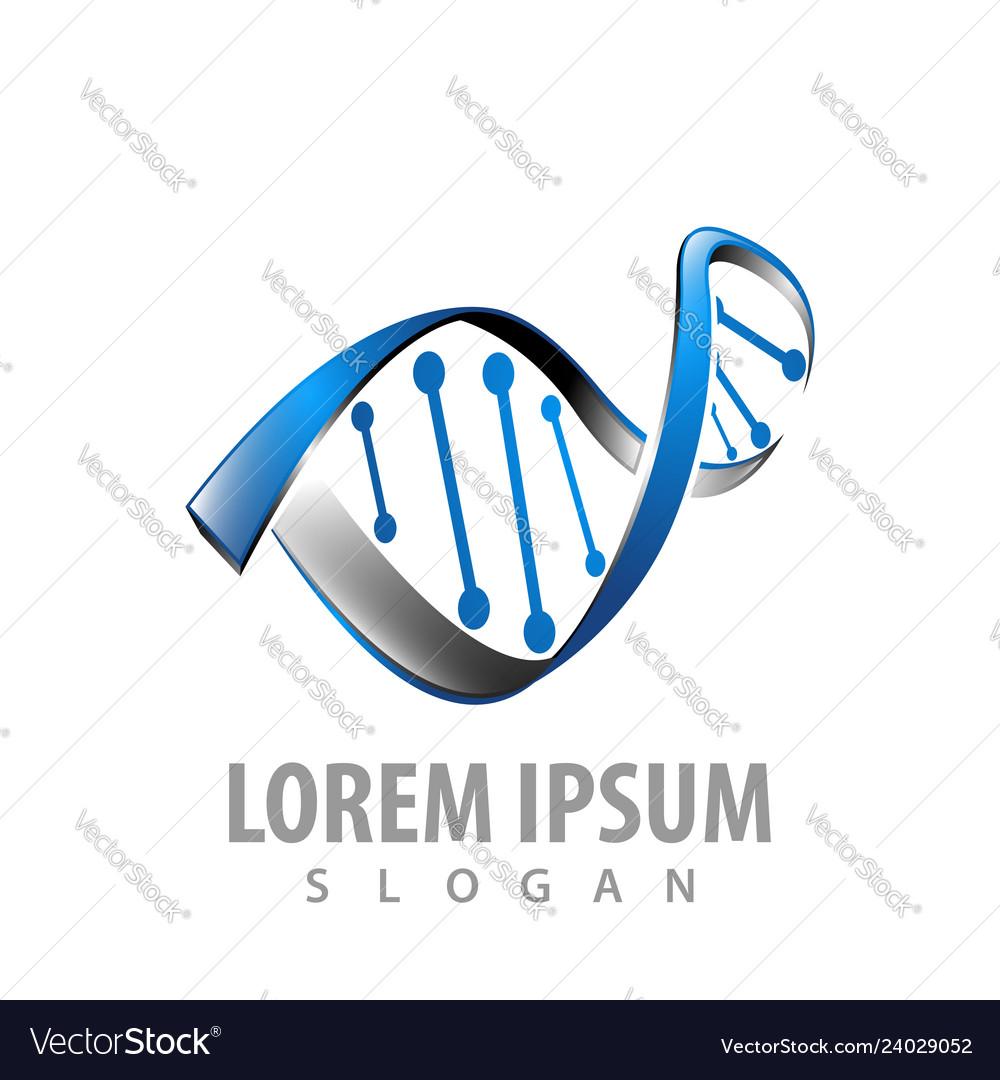 Logo concept design 3d genetic dna symbol graphic