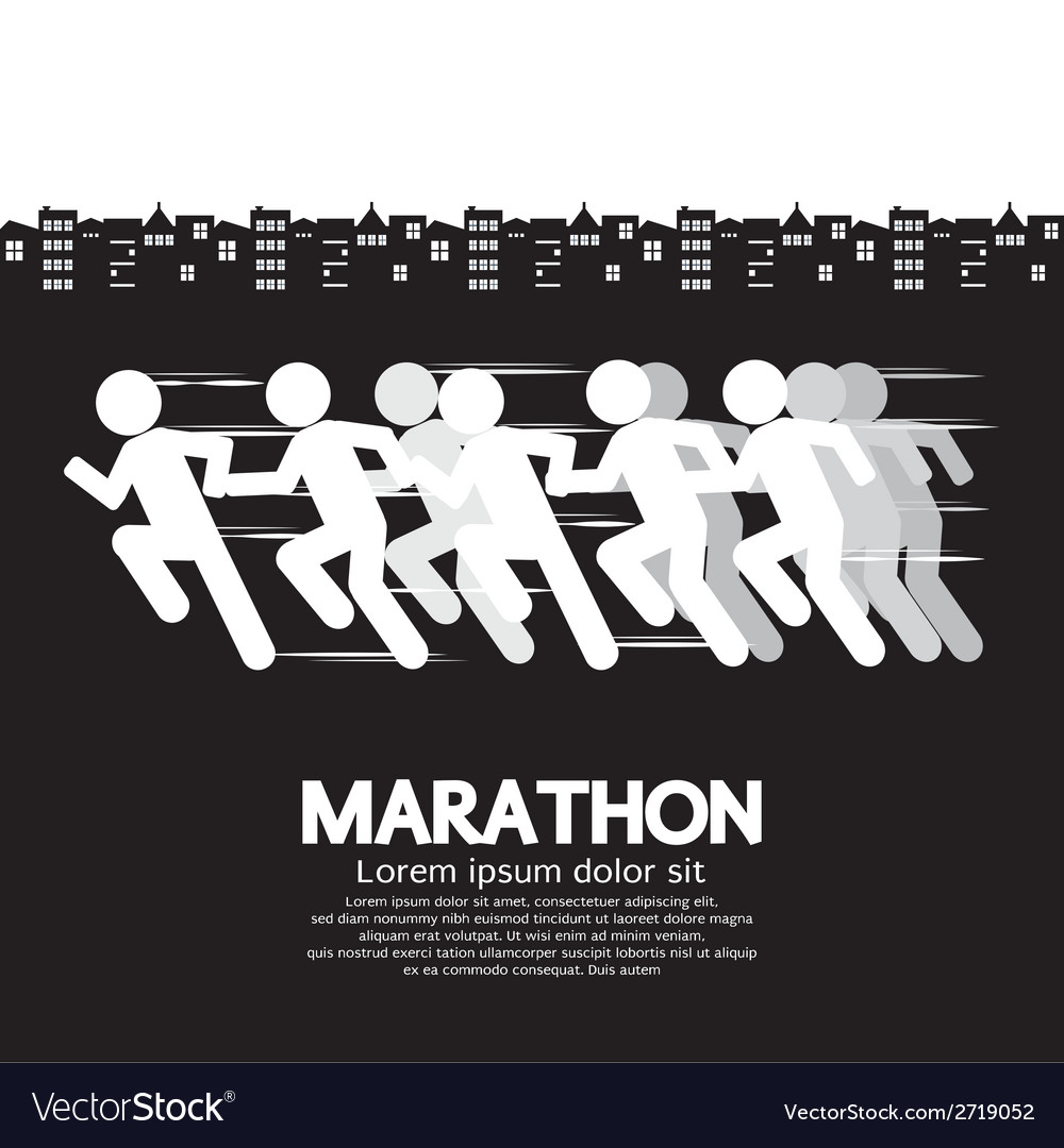 Marathon Runner Sign