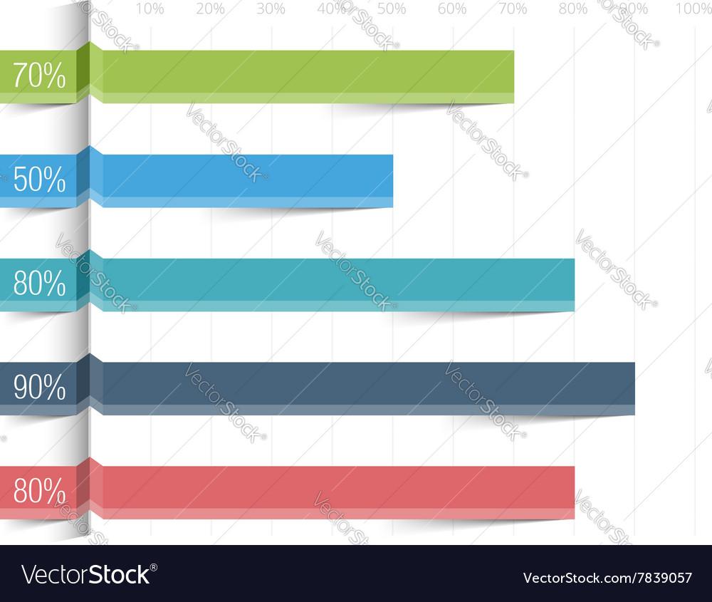 bar graph template royalty free vector image vectorstock