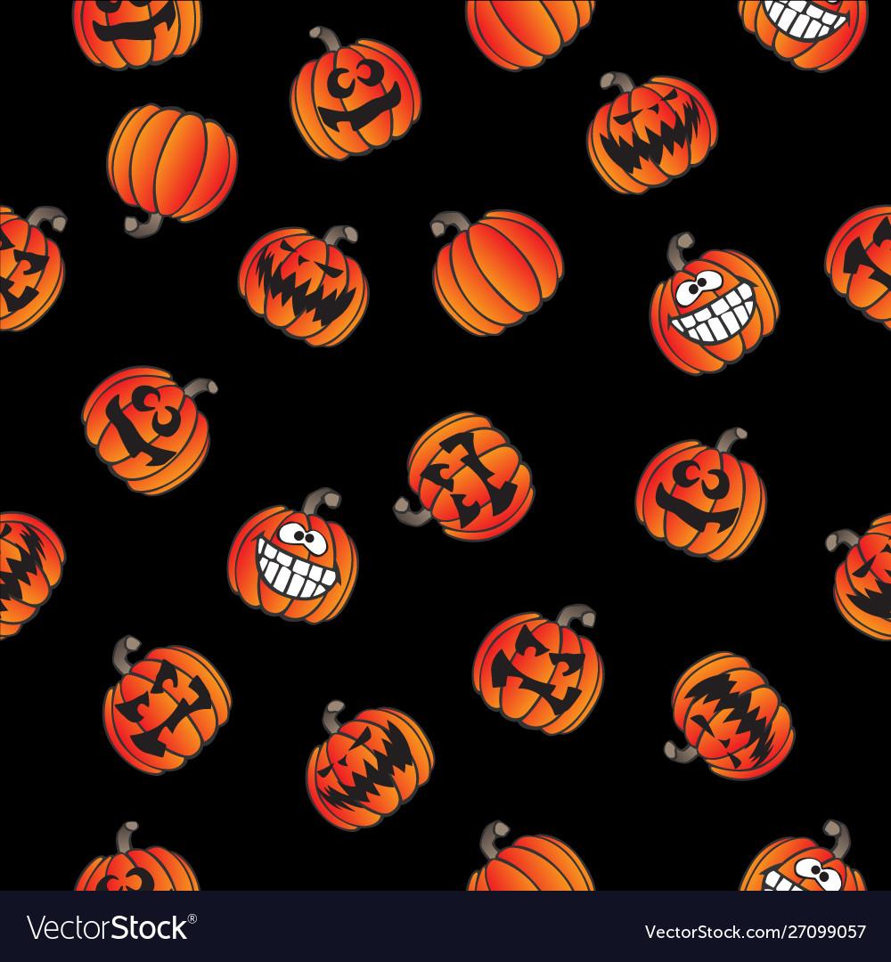 Fun halloween pumpkins seamless repeating pattern