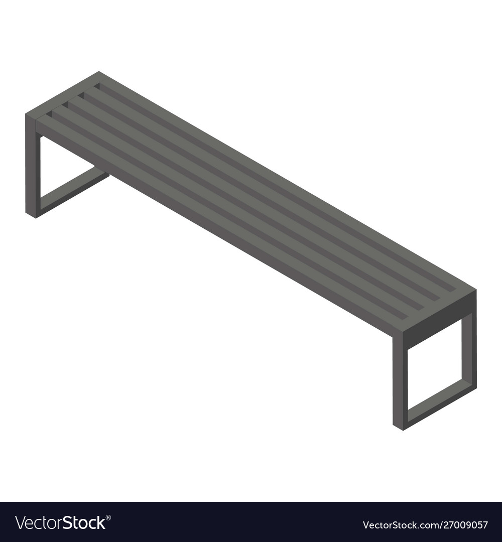 Magnificent Long Park Bench Icon Isometric Style Ibusinesslaw Wood Chair Design Ideas Ibusinesslaworg