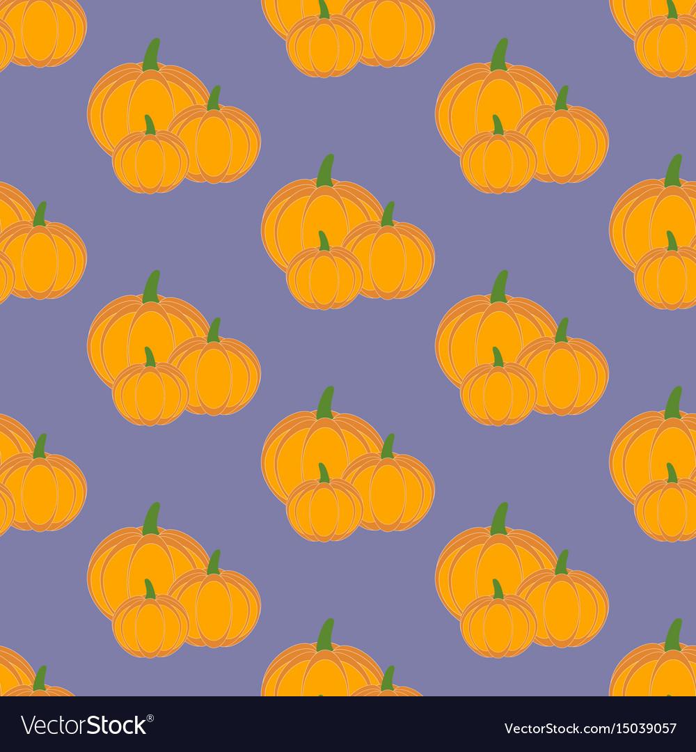 Pumpkin vegetable pattern vector image