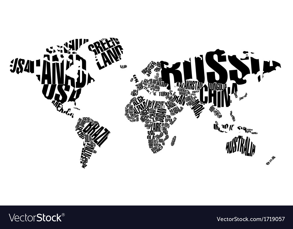 World map in typography royalty free vector image world map in typography vector image gumiabroncs Images