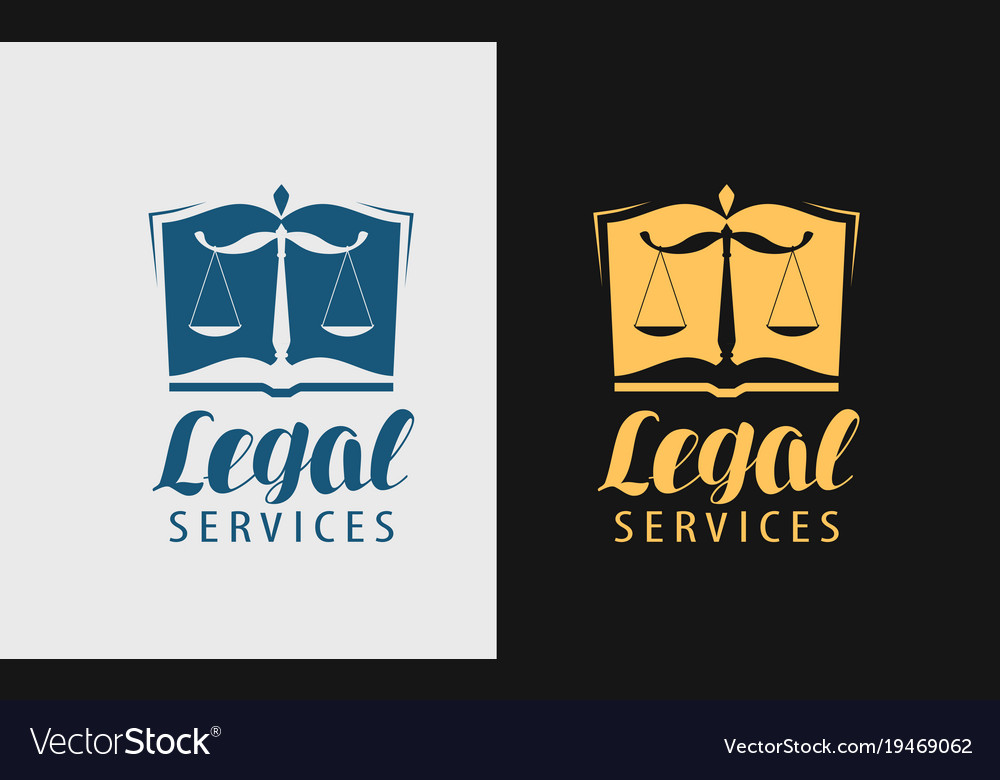 Legal services logo notary justice lawyer icon