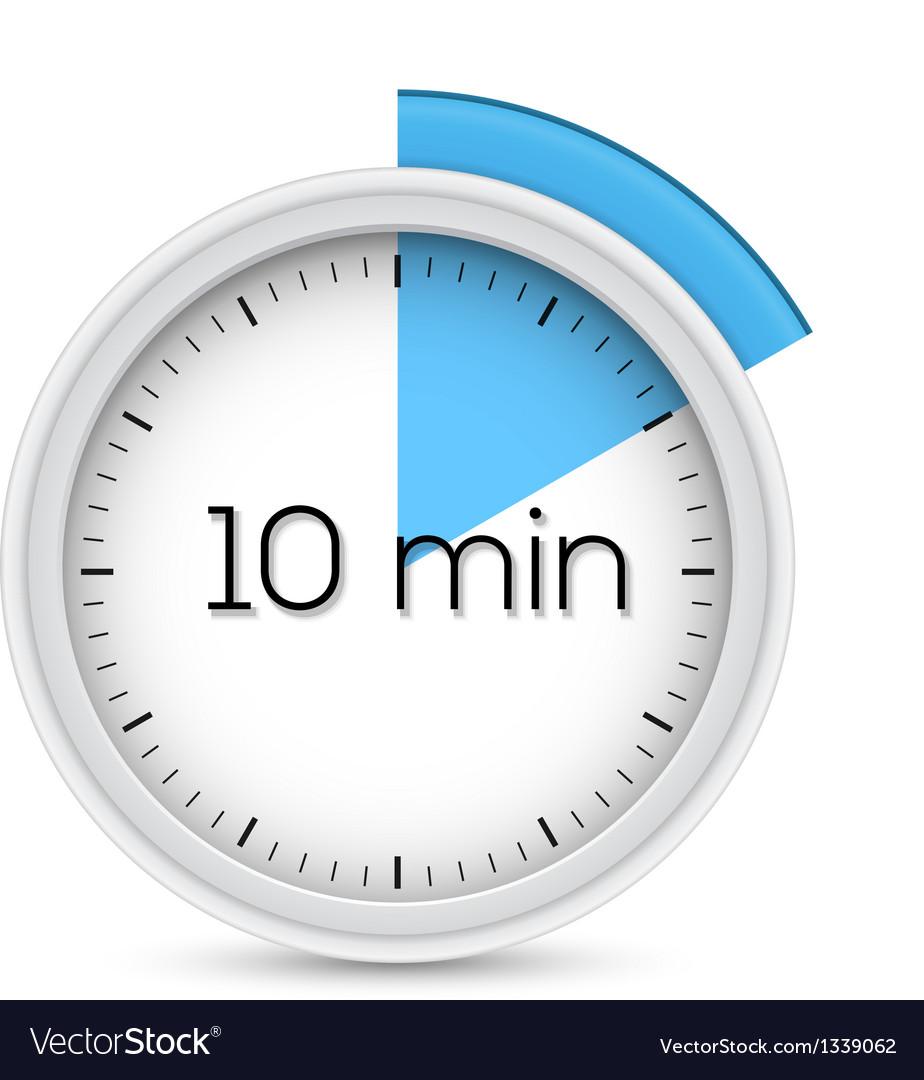 ten minutes timer royalty free vector image vectorstock
