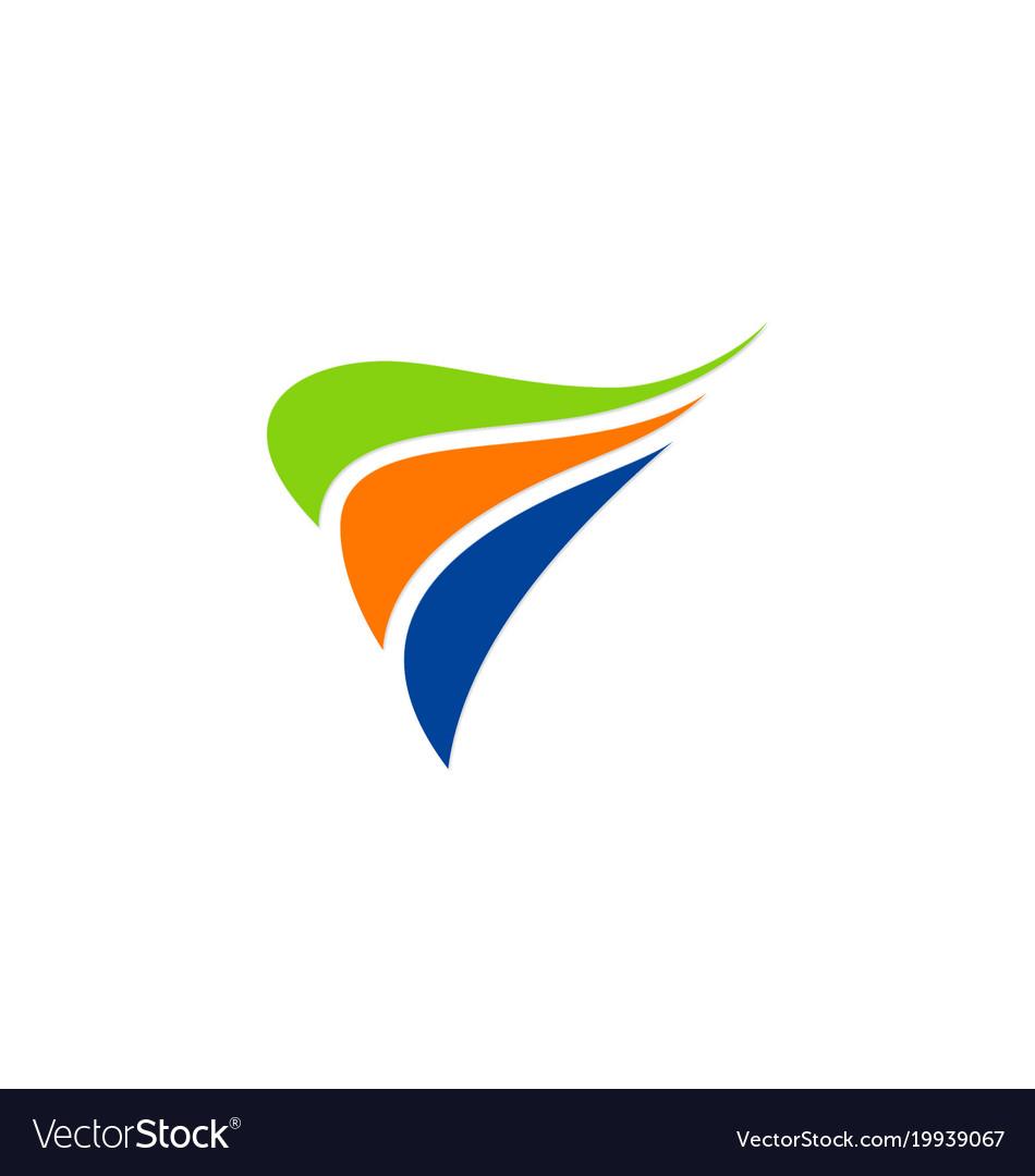 Abstract loop colorful company logo vector image
