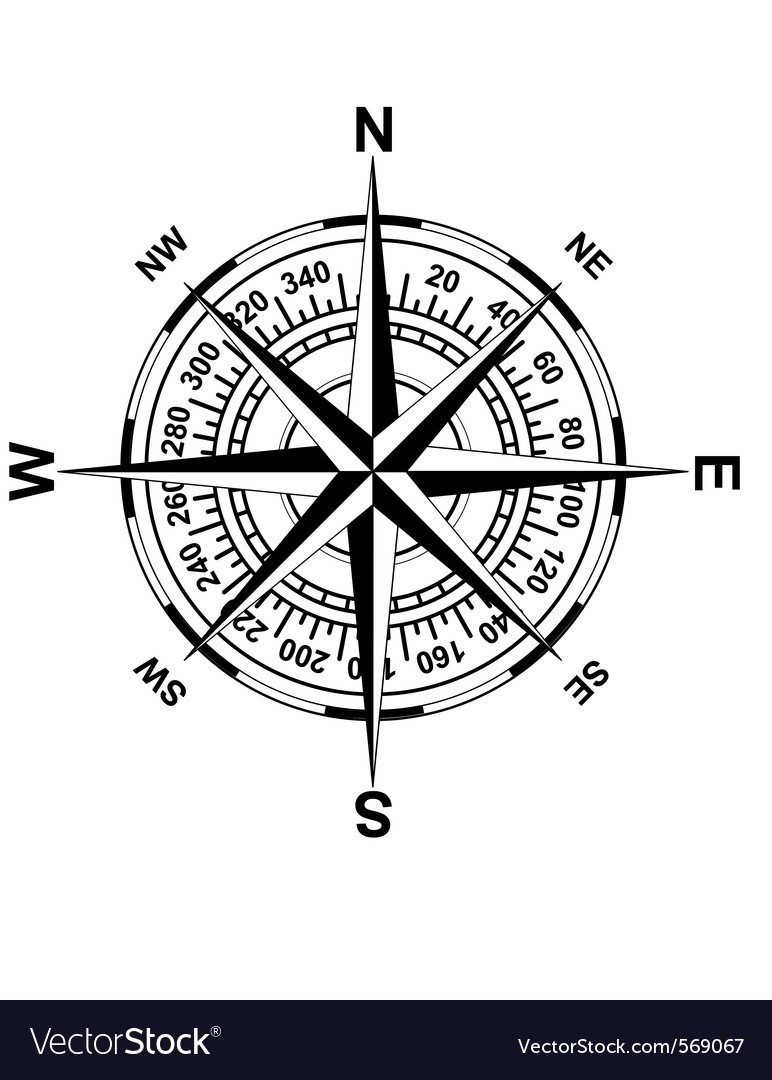 Antique Magnetic Compass Vector Jpg 380 440 Nautical Wall Art Compass Rose Compass Drawing
