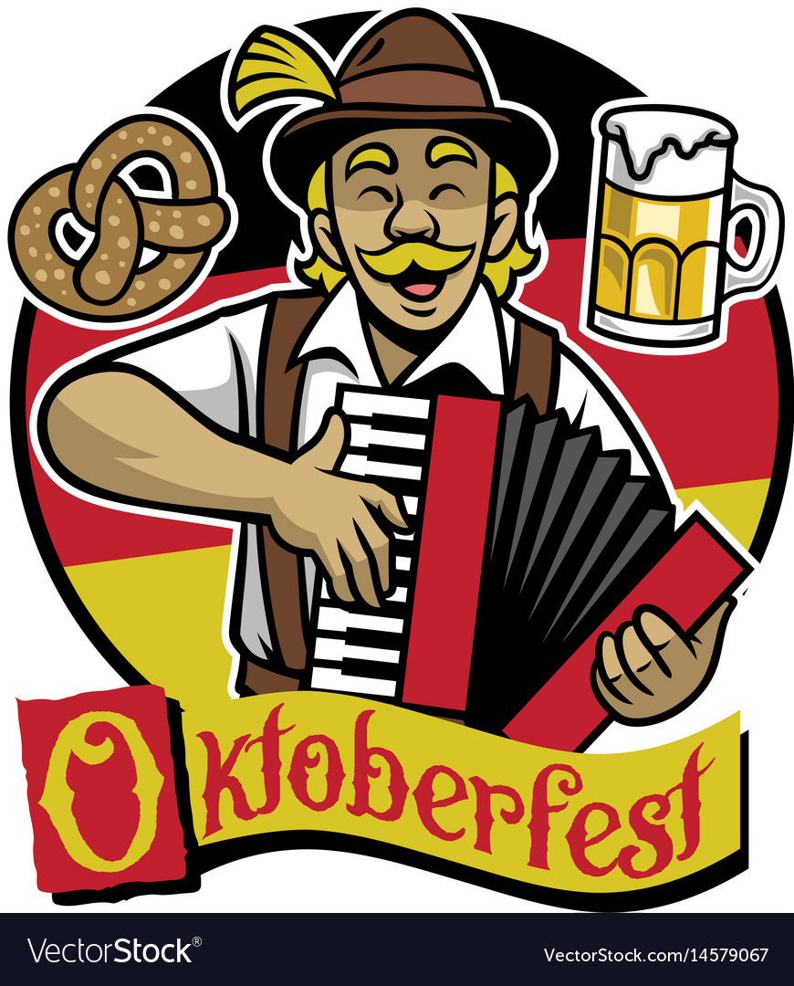 Bavarian man celebrating oktoberfest