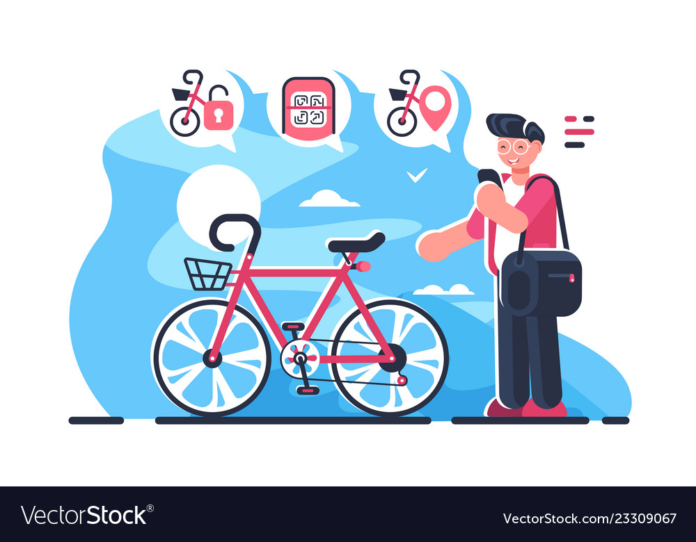 Bike sharing system station on city street