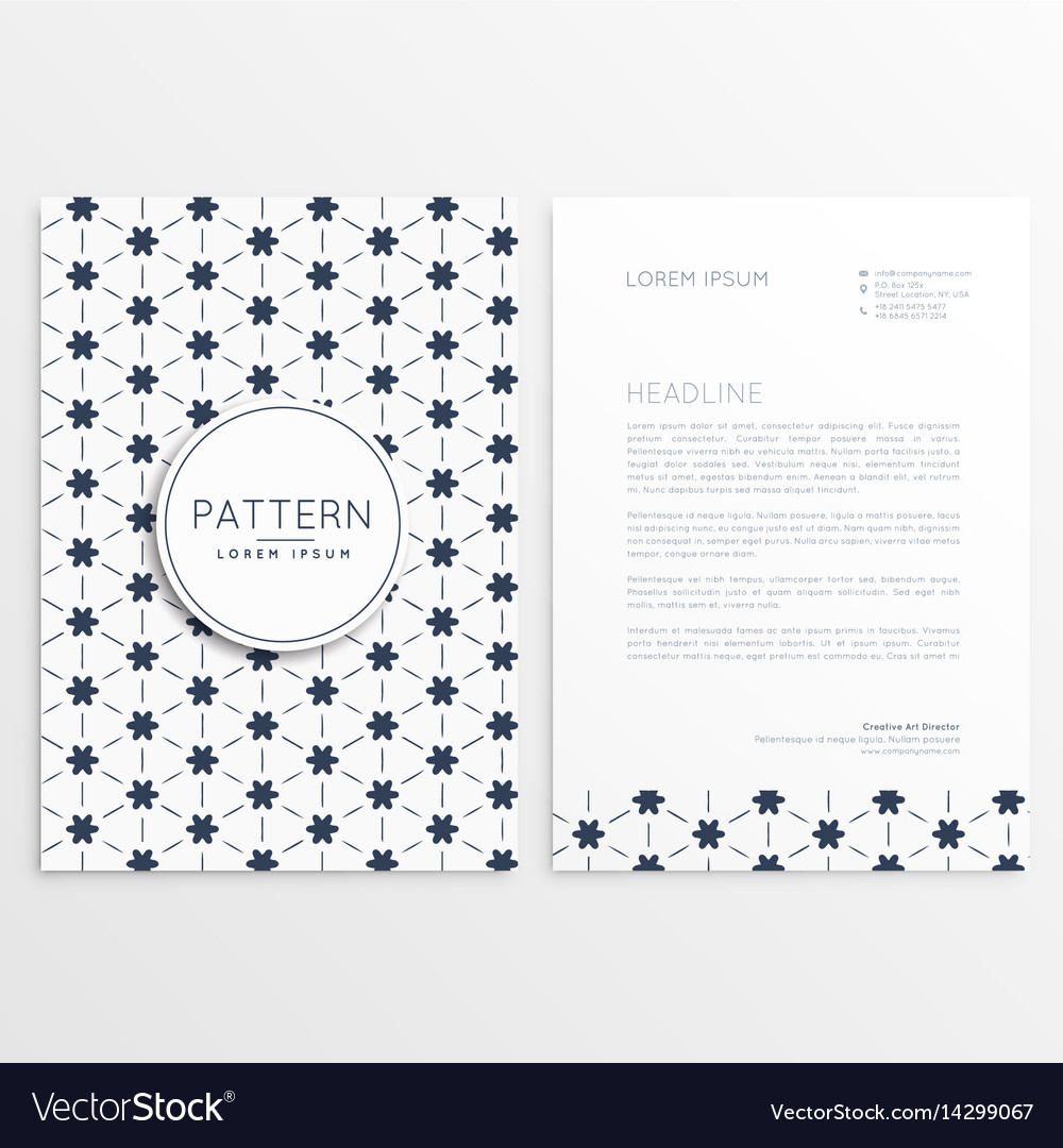 Clean letterhead design with abstract pattern vector image