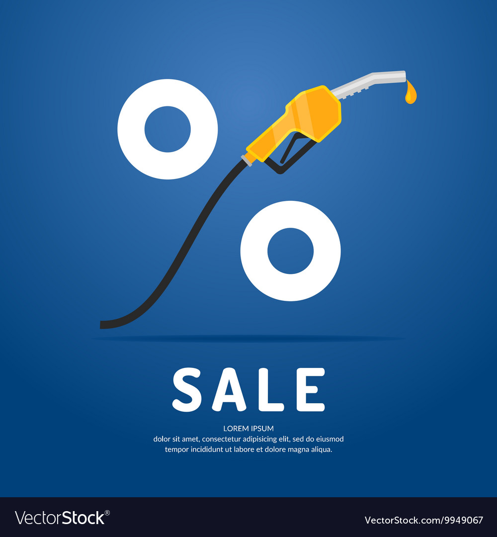 Poster advertising a Discount on fuel