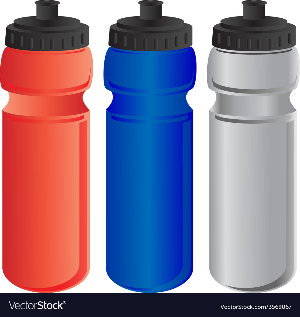 Red Blue And Grey Sports Water Bottle