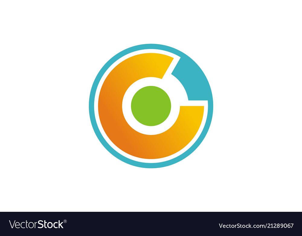 Round letter c technology logo