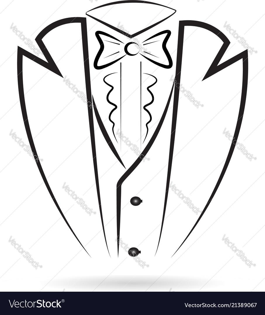 Tuxedo man suit silhouette icon
