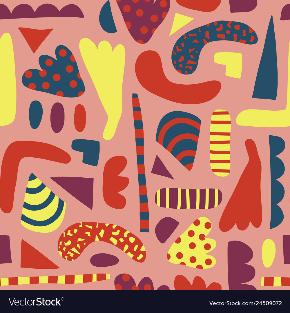 Abstract shapes seamless pattern for girls