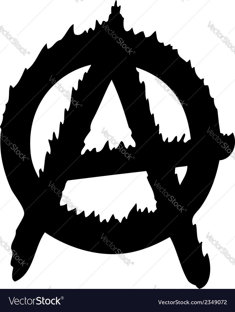 Anarchy logo vector image