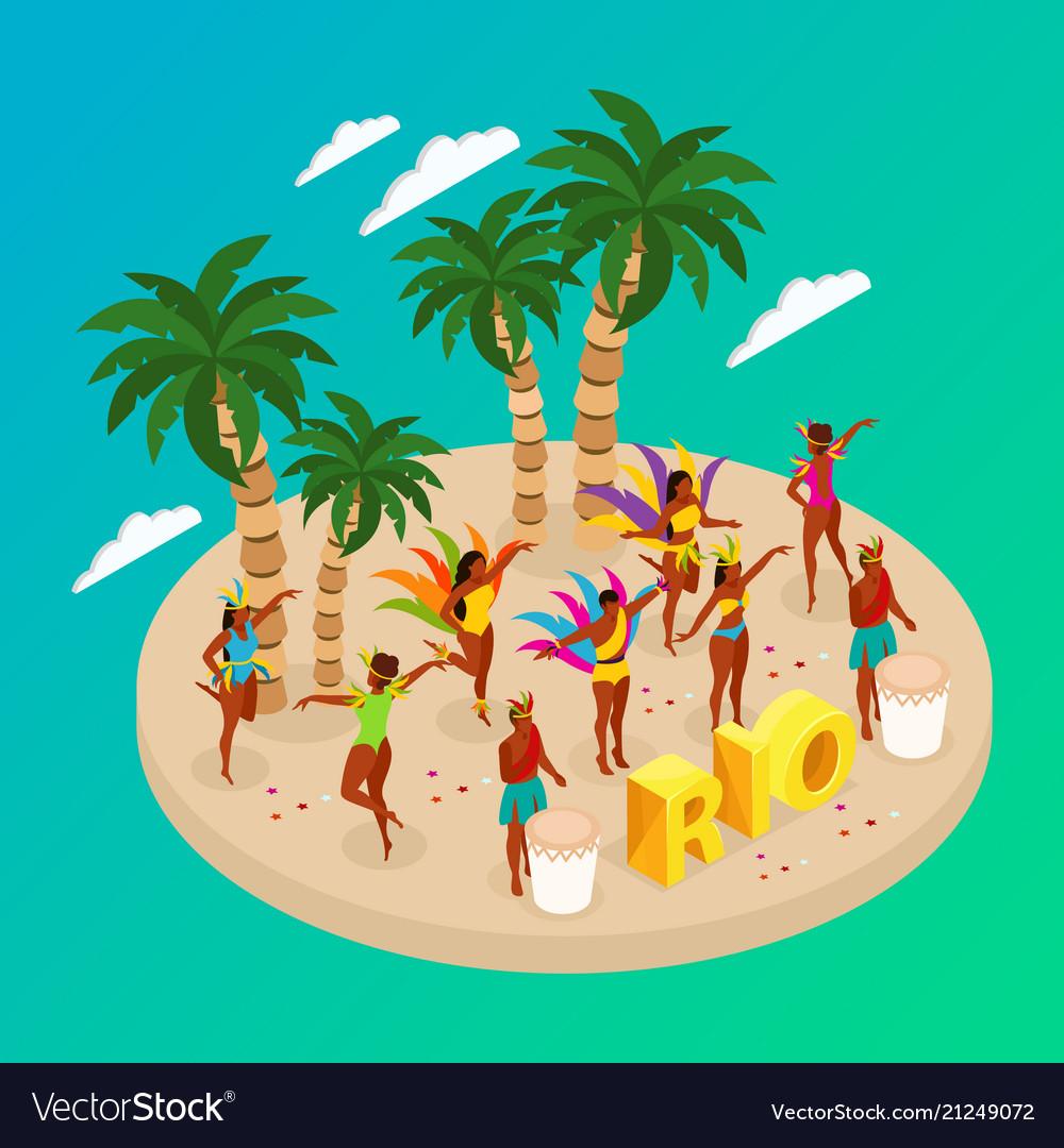 Brazilian carnival concept
