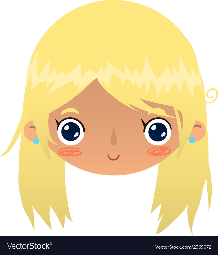 cartoon blonde girl face royalty free vector image rh vectorstock com blonde girl cartoon wallpaper blonde girl cartoon wallpaper