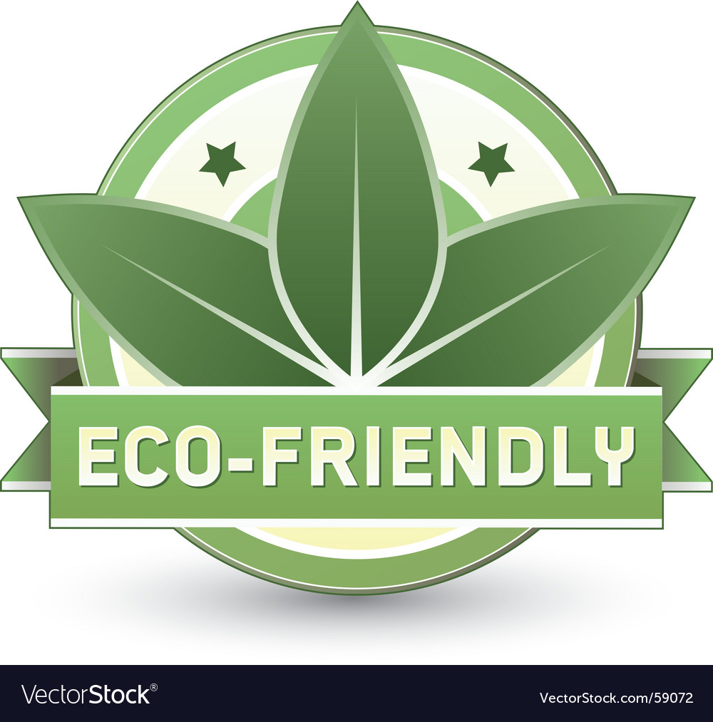 Eco-friendly vector image