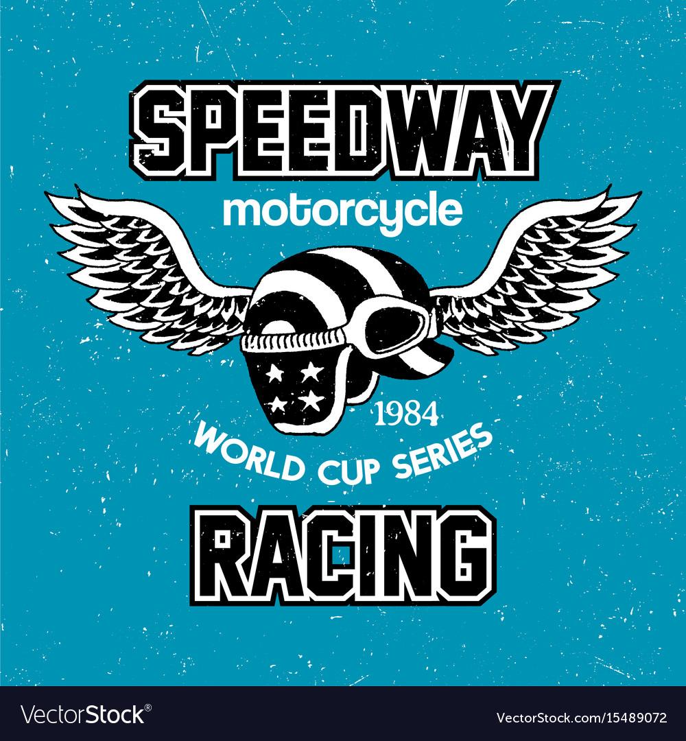 Motorcycle speedway racing poster