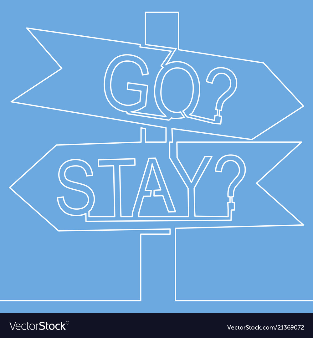 one continuous line drawing of road sign arrows vector image