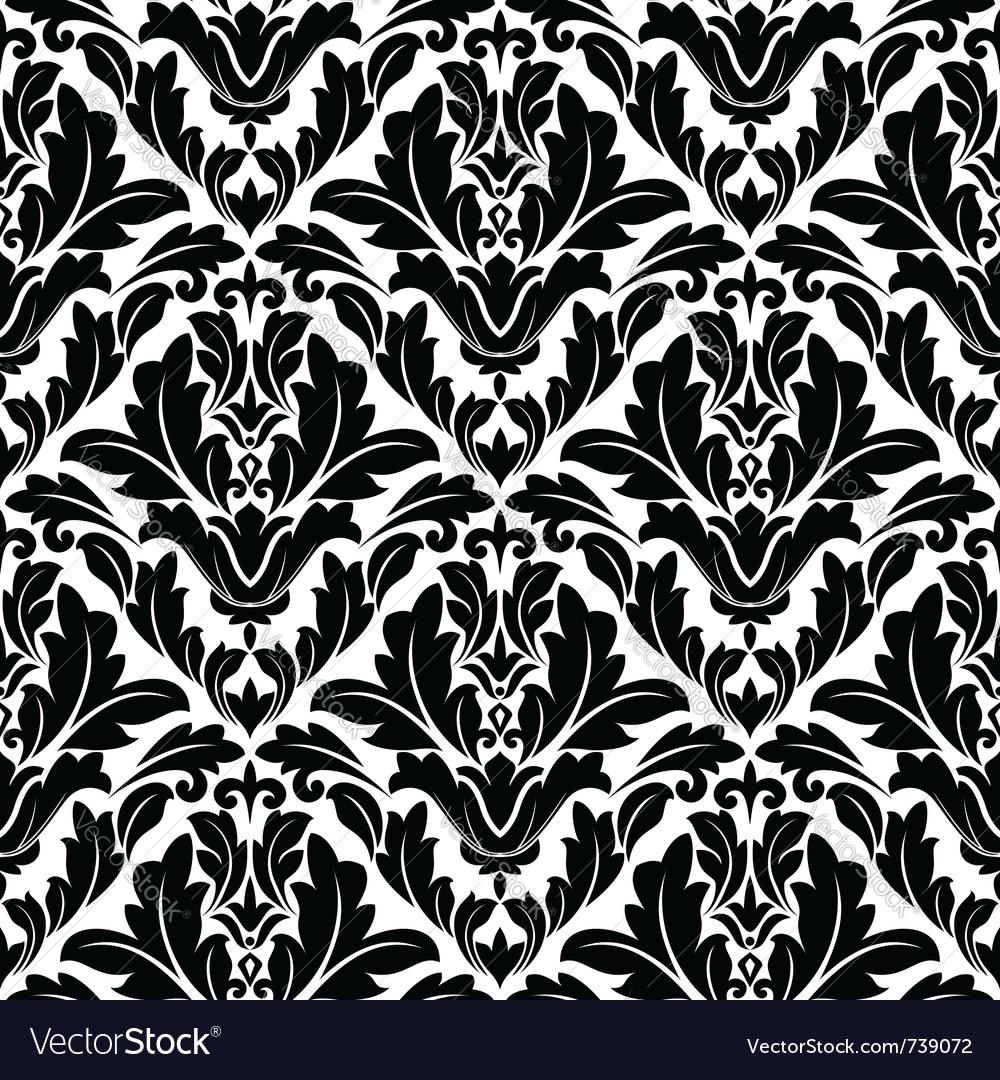 Retro seamless flourish pattern in damask style vector image