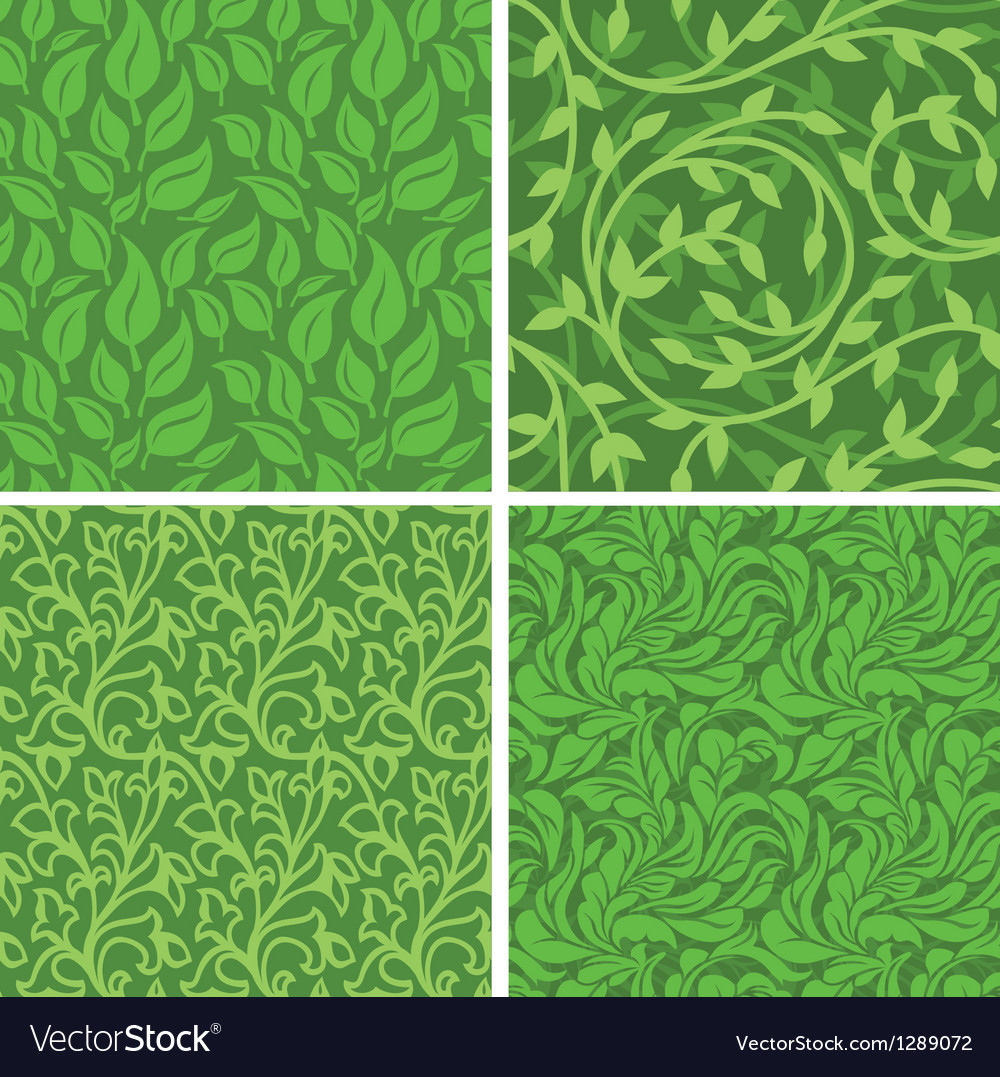 Seamless backgrounds with leaves