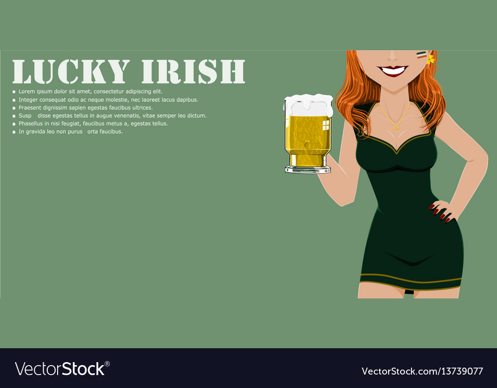 A glass of beer was hold by sexy girl vector image