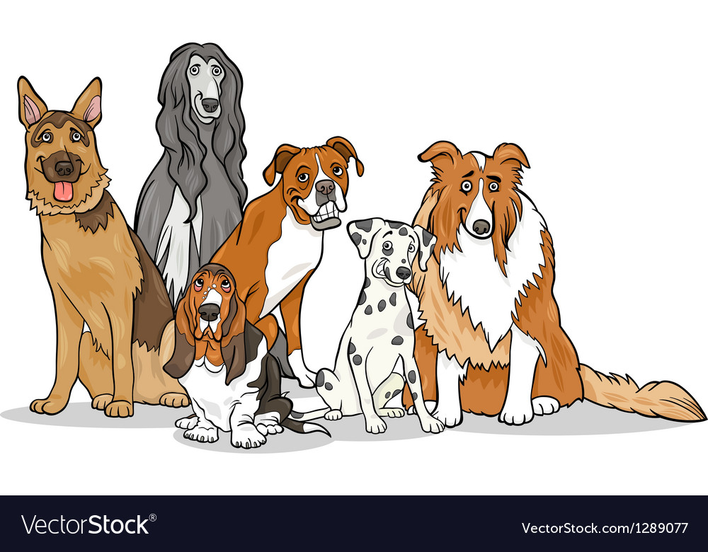 Pictures of cute cartoon dogs
