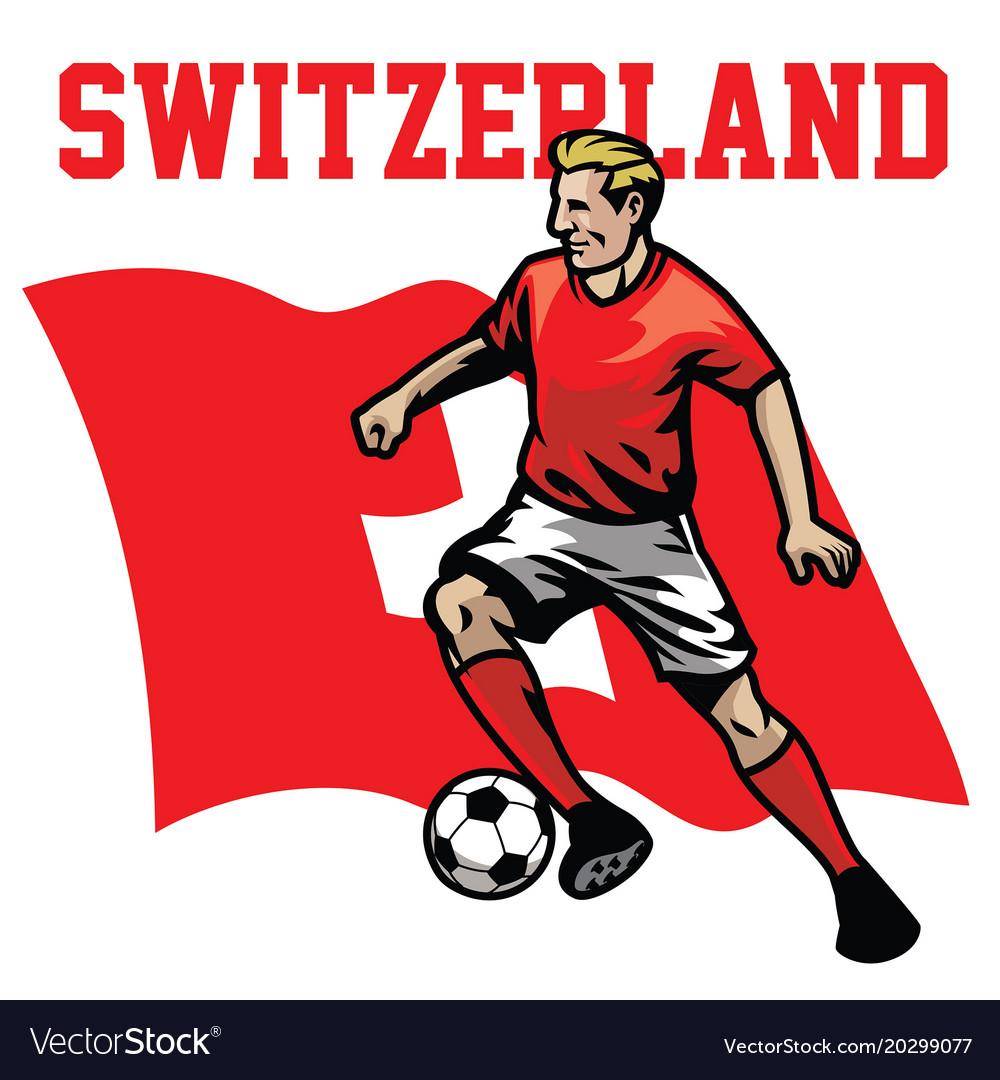 Soccer player of switzerland vector image