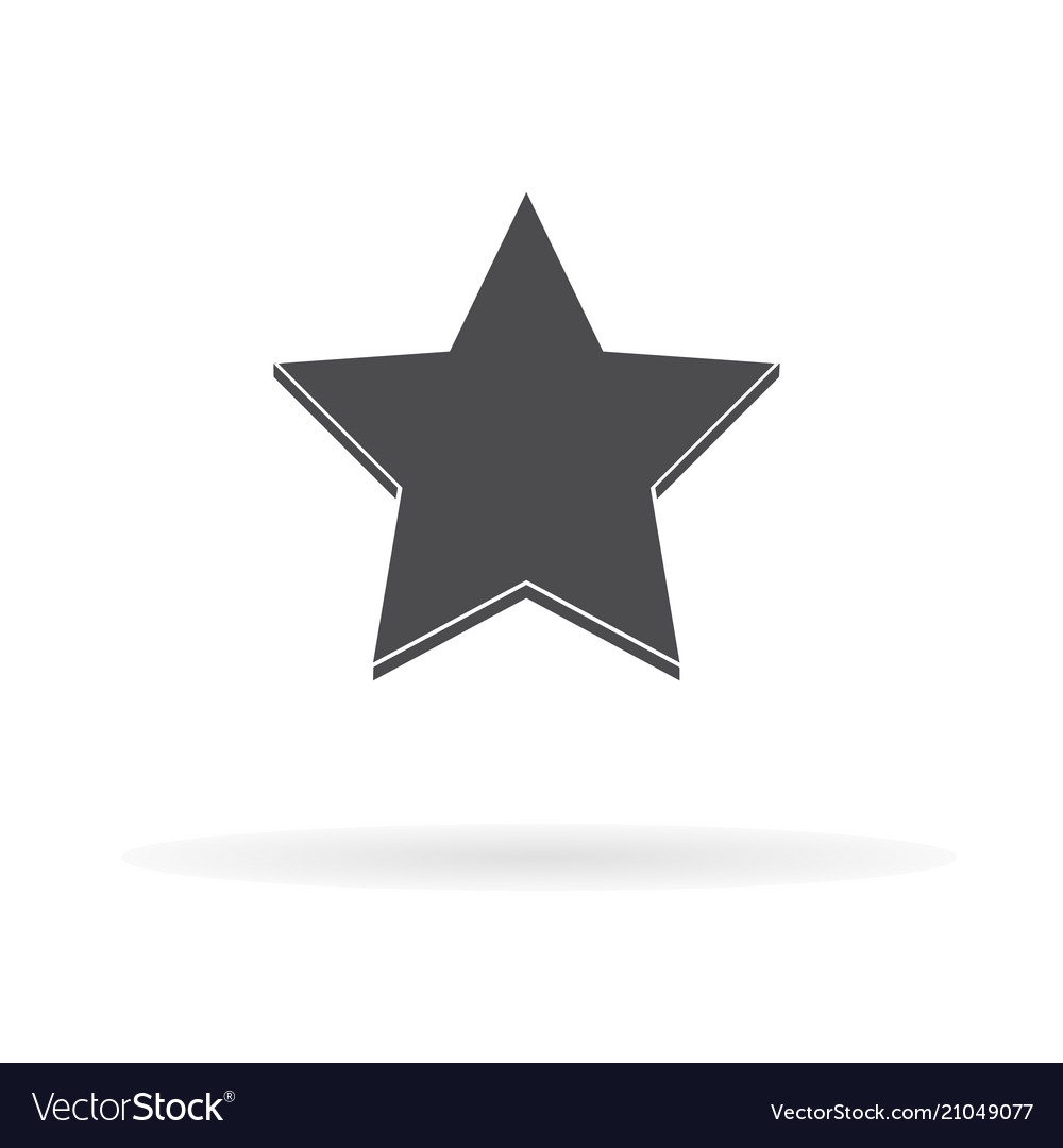 Star icon for web business finance and